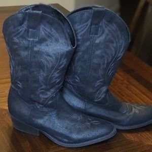 Rampage Black Western Boots